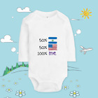 Baby clothing custom made T shirt cotton soft body Canadian And  America XQ80