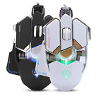 USB Wired 4000 DPI Metal Base Mechanical Gaming Programming Mouse w/ LED Light