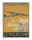 By Air to USSR Early 20th century Air Travel Poster [4 sizes matte+glossy avail]
