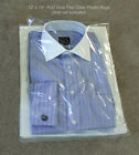 """12 x 15 Clear Poly T-Shirt Plastic Bags w/ 2"""" Fold Over Flap - No Tape Needed"""
