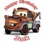 "TOW MATER CARS 3 2017 ROUND 7.5""  CAKE TOPPER ICING OR RICEPAPER"