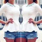 Fashion Women Loose T shirt Blouse lady Casual Long Sleeve Tops Shirt plus New