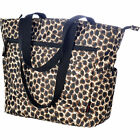 "Olympia X-Press Shoulder Tote Bag - 12"" Black / Leopard"