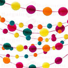 Honeycomb Ball Garland 7ft - Choose From 10 Colours - Banner Bunting Party