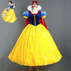 Womens Deluxe Snow White Fancy Dress Costume Fairy Tale Princess Queen Outfit