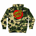 Santa Cruz Classic Dot Pullover Hooded Sweatshirt Army Camo