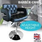 2018 BLACK/WHITE SALON QUILTED LEATHER STYLE BARBER CHAIR BEAUTY HAIRDRESSER
