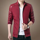 2017  Men's Slim collar jackets fashion jacket Tops Casual coat outerwear New !