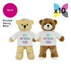 10 Personalised Henry Teddy Bears Promotional Logo Text Photo Printing Bulk
