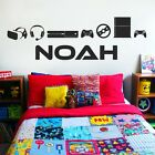 Personalised Name Boys Wall Art Sticker - Gamers, XBox, Playstation, Gaming, Gam