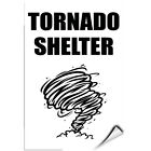 Tornado Shelter With Graphic Hazard Sign Emergency LABEL DECAL STICKER