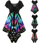 Womens Holiday Waist Butterfly Party Dress Handkerchief Asymmetry Straps Dresses