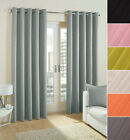 Pair Of Plain Eyelet Pencil Curtains Blackout/ Dim Out  Regular And Extra Wide