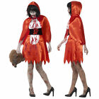 Smiffys Womens Zombie Little Miss Riding Hood Halloween Fancy Dress Costume