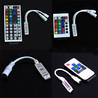 FOR RGB 3528 5050 LED STRIP LIGHTS 24/24 KEY IR REMOTE CONTROLLER BOX DC 12V