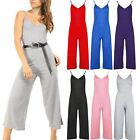 Ladies Womens Palazzo Cami Culotte Thin Wide Leg Pants Playsuit Strappy Jumpsuit