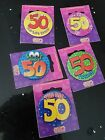 50th Fiftieth Fifty 50 TODAY Birthday Badges