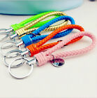 Fashion handmade leather rope keychain car key chain small gift
