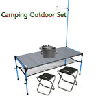 Camping Outdoor Hiking Climbing Chair + Rice Cooker + lantern Table kitchen SET