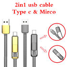 2in1 Micro USB and USB 3.1 Type C  Charging Data Cable Lead for MacBook