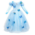 Cinderella Princess Cosplay Costume Kids Girls Party Fancy Butterfly Dress 3-8T