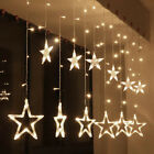 Star String Fairy 138 LED Curtains Lights for Christmas Wedding Party Garden