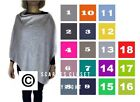 Womens Mix Italian Lagenlook Cashmere Wool Knitted Poncho Wrap Scarf Shrug