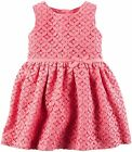 Carters 9 Months Pink Lace Dress Baby Girl Clothes Party Holiday