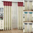 2PCS Faux Silk Ring Top Eyelet Curtains Full Lined-100% BLACKOUT LININGS CHOICE