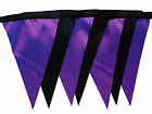 Black and purple taffeta single sided bunting wedding hen birthday party