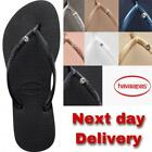 Original Genuine HAVAIANAS  Slim Crystal Flip Flops Women  Summer 2020