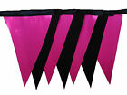 Black and pink taffeta single sided bunting wedding hen birthday party
