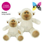 10 Lucy Lambs Sheep Cuddly Soft Toys Without Clothing Blank Plain Plush Gifts