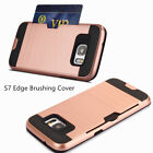 Wallet Shockproof Hybrid Card Holder Case Cover for Samsung Galaxy S7 S7edge