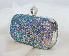 Lady's  handbag Crystal Sequin Evening Bag Clutch Purse Party Wedding Clutch Bag