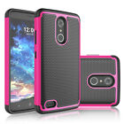 For ZTE Max XL N9560 Shockproof Sturdy Armor Hybrid Rugged Rubber Case Cover