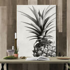 Black & White Pineapple Abstract Art on Canvas Painting Wall Art Picture Print