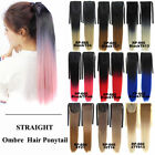 Straight Ombre Two Tones Synthetic Hair Ponytail Drawstring Clip In Extensions