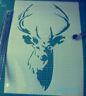 Deer with Antlers reusable STENCIL for home wall interior decor / Stag stencil