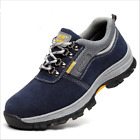 Mens Safety Shoes Summer Breathable Steel Toe Work Boots Hiking Climbing A25