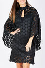 NEW Imonni Womens Short Dresses Symphony Lace Dress Black