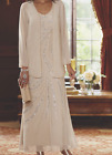 Formal Wedding Mother of the Bride Groom Jacket Dress Gown Size M XL 1X 2X PLUS