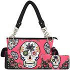 Sugar Skull Day of the Dead Purse Punk Art Handbag Women Shoulder Bag Wallet Set