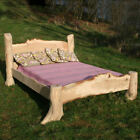Rustic Oak Driftwood Bed, Stunning Wooden Bed Frame, Handmade in the UK
