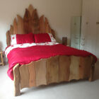 Wooden Flame Bed. Beautifully Handcrafted as Double, King Size Or Super King Siz