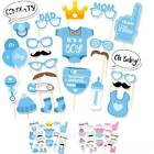 25pcs Photo Booth Props It's A Girl Baby Showers Decor NewBorn Photogray Props