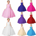 Girls Kids Flower Bridesmaid Party Princess Prom Wedding Christening Dress New