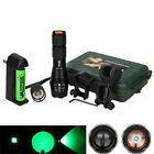Zoomable 5000LM Green Q5 LED Tactical Handheld Flashlight Torch Hunting 18650 Q2