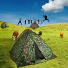 Camouflage Outdoor Camping Waterproof 4 Person Folding Automatic Pop Up Tent VP