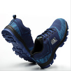 hot Mens Safety Shoes Summer Breathable Steel Toe Work Boots Hiking Climbing A27